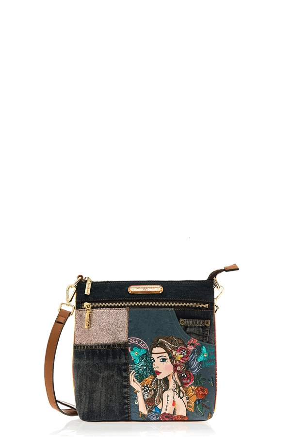 BOHEMIAN DENIM CROSSBODY BAG - orangeshine.com