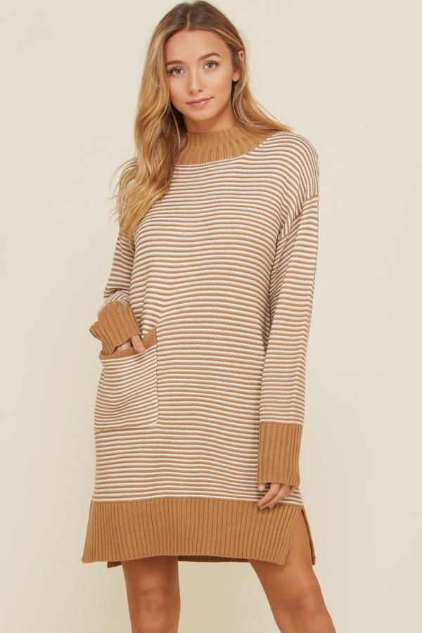 e7a1cca830 Long Sleeve Turtleneck Sweater Dress - orangeshine.com