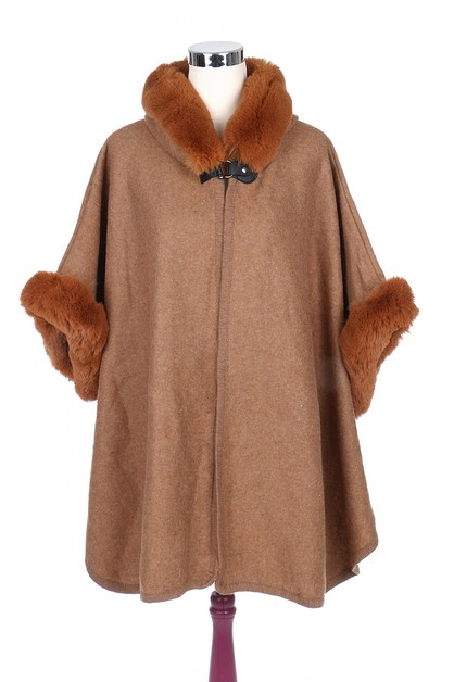 Soft Fur Fashion Poncho - orangeshine.com