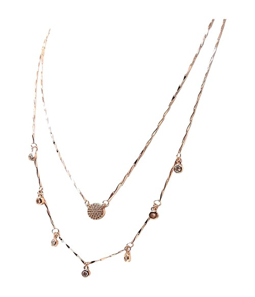 Gold Plated Layered Necklace - orangeshine.com