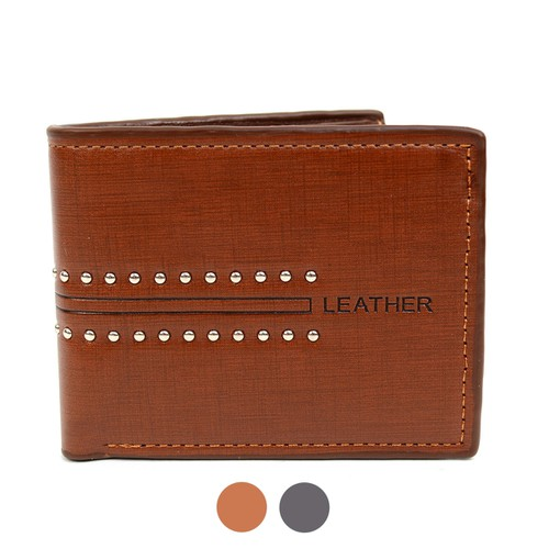 Bi-Fold Leather Mens Wallet - orangeshine.com