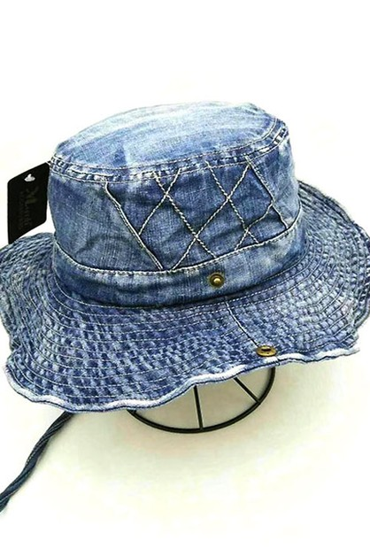 Denim Bucket Hat  - orangeshine.com