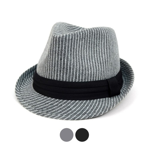 Fall-Winter Striped Trilby Fedora Ha - orangeshine.com