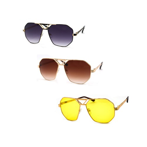 Retro Aviator Vintage Square Sunglas - orangeshine.com