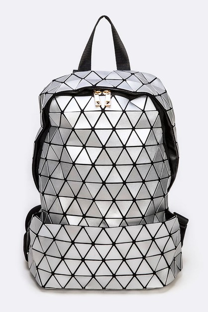 Geo Structure Iconic Large Backpack - orangeshine.com