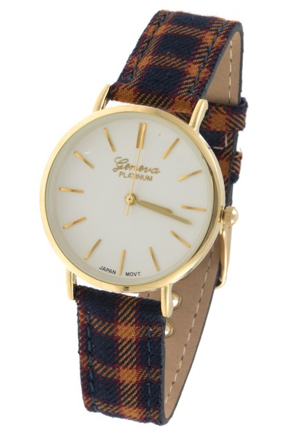 PLAID PATTERN FASHION WATCH  - orangeshine.com