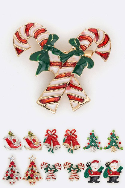 Christmas Theme Iconic Brooch Set - orangeshine.com