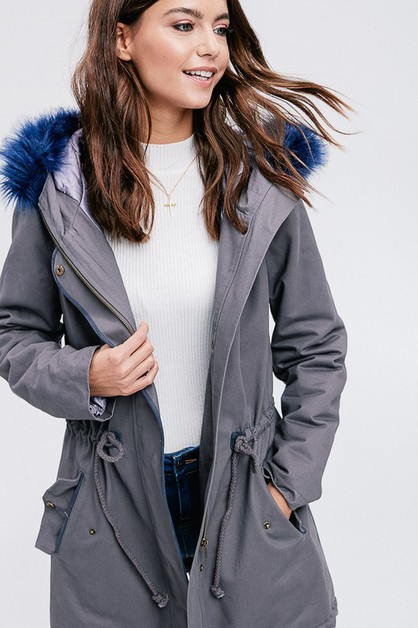 winter grey parka - orangeshine.com