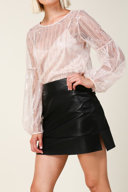 Stowe Leather Mini Skirt - orangeshine.com
