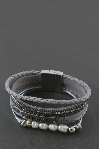 MAGNETIC LOCK WRAPPING BRACELET  - orangeshine.com