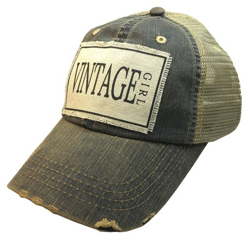 Vintage Girl Trucker Hat - orangeshine.com
