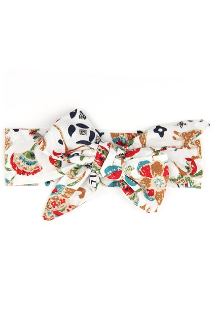Fun Print Kid Size Bow Tie Headband - orangeshine.com