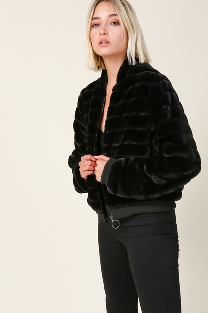 Aspen Faux Fur Jacket - orangeshine.com