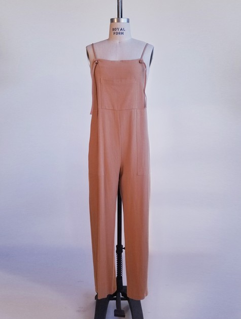 YP098-JUMPSUIT-LINEN-POCKET - orangeshine.com