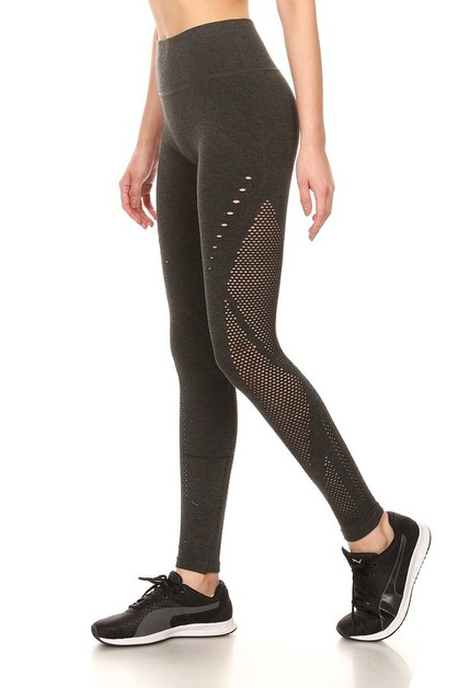 Laser Cut Sports Leggings Cutout  - orangeshine.com