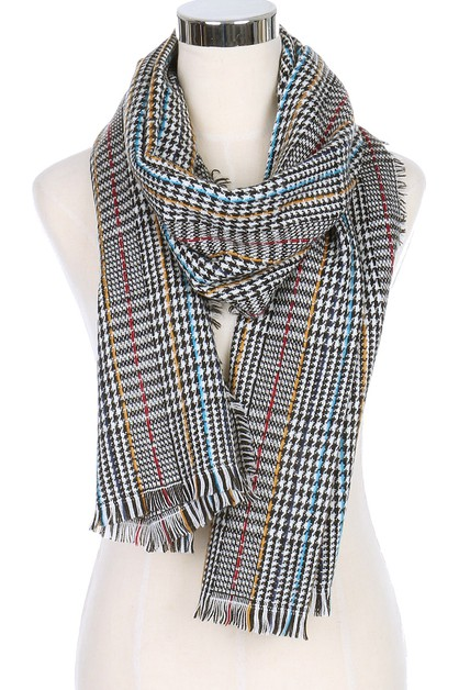 Plaid Oblong Scarves - orangeshine.com