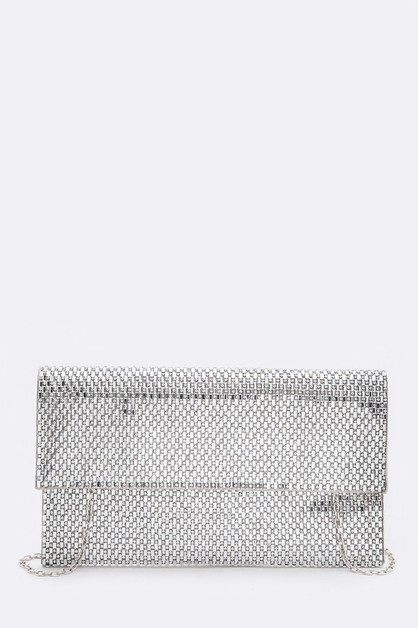 Crystal Iconic Foldover Clutch - orangeshine.com