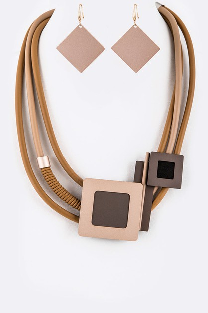 Mix Geo Shape Silicon Necklace - orangeshine.com