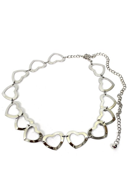 Heart Metal Chain Belt - orangeshine.com
