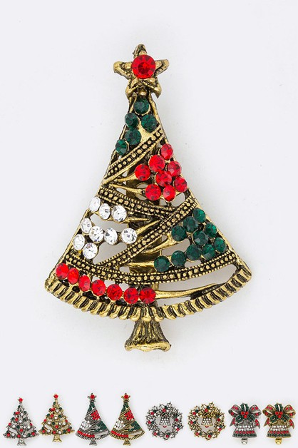 Christmas Tree Iconic Brooch Set - orangeshine.com