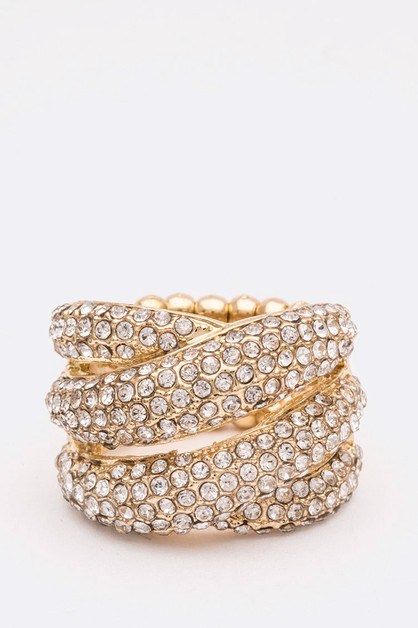 Crystal Iconic Cocktail Stretch Ring - orangeshine.com