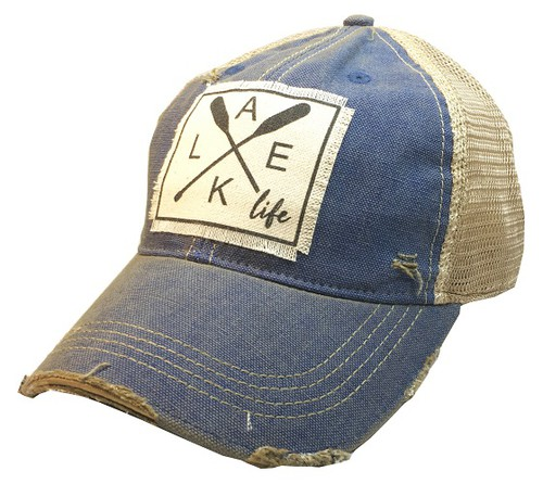 Lake Life Trucker Hat - orangeshine.com