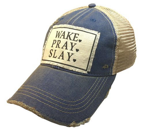 Wake Pray Slay Trucker Hat - orangeshine.com