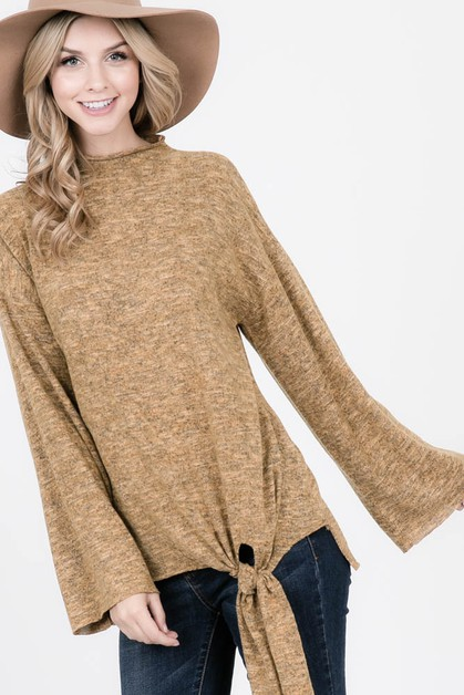 Brushed Fleece Two-tone Sweater - orangeshine.com