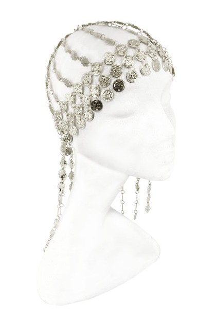 Belly dance silver coin hat - orangeshine.com