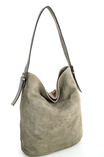 Leather Modern Hobo Bag - orangeshine.com