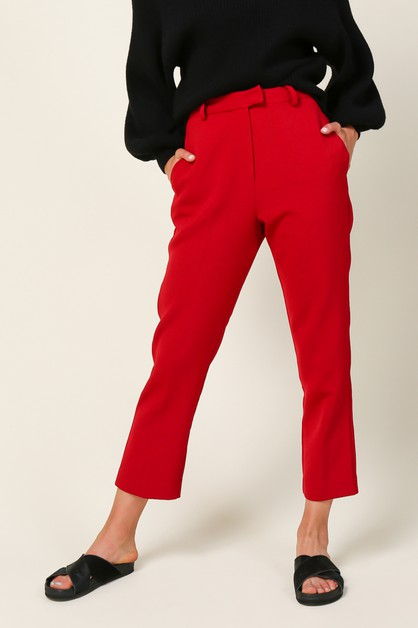 Rosey Cropped Pants - orangeshine.com