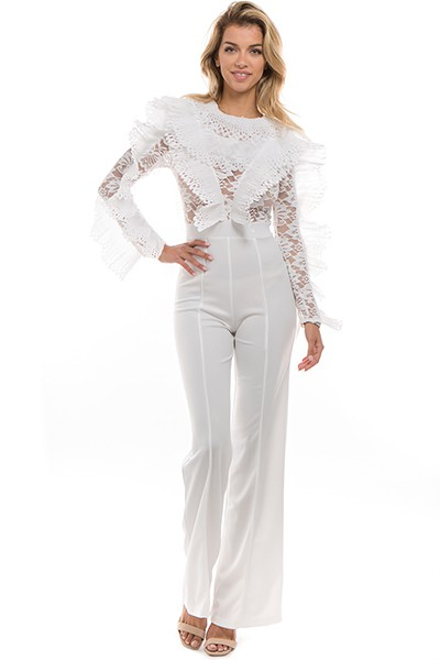 Tribal Lace Detailed Jumpsuit - orangeshine.com