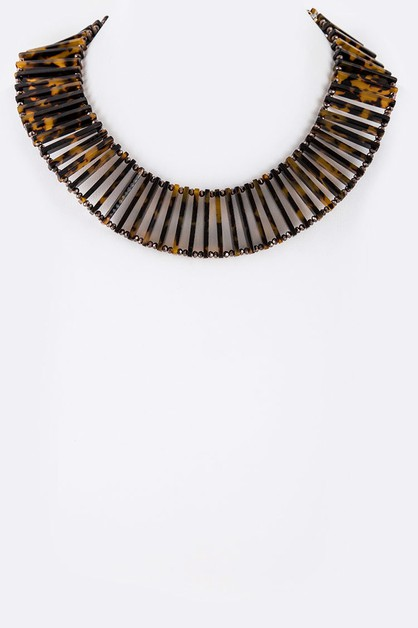 Celluloid Iconic Bar Collar Necklace - orangeshine.com