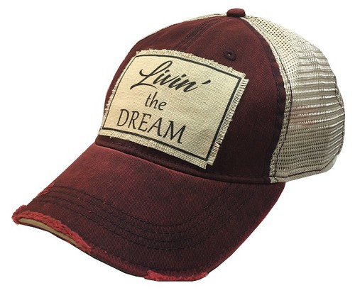Livin The Dream Trucker Hat - orangeshine.com