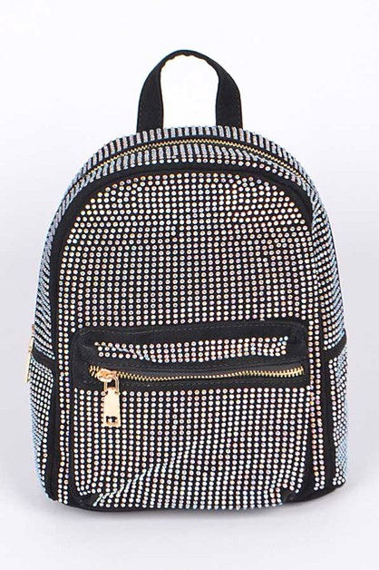 Crystal Stud Iconic Backpack - orangeshine.com