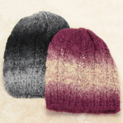 Ombre Knitted Hat - orangeshine.com