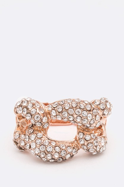 Crystal Iconic Link Stretch Ring - orangeshine.com