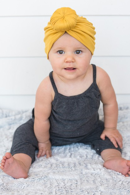 Donut Knotted Jersey Knit Turban - orangeshine.com