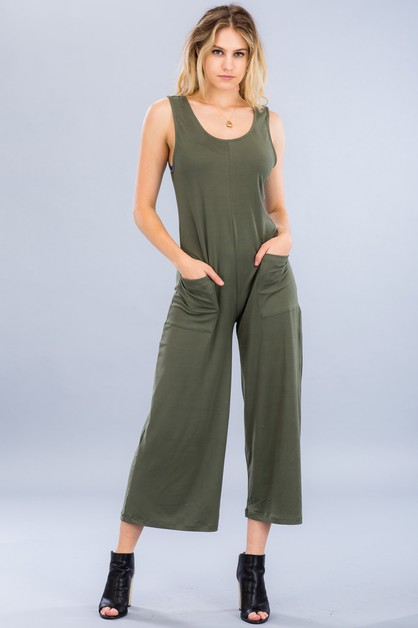 Wide-Leg Jumpsuit - orangeshine.com