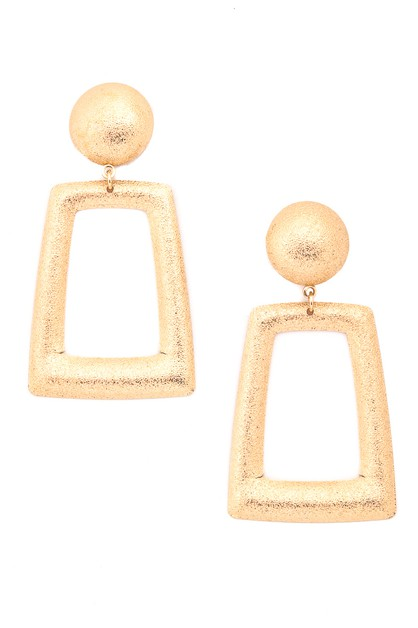 Pack of 12 Shiny Trapezoid Earrings - orangeshine.com