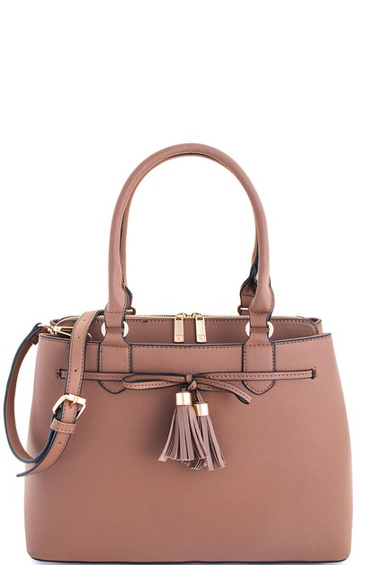 Fashion Cute Tassel Satchel - orangeshine.com