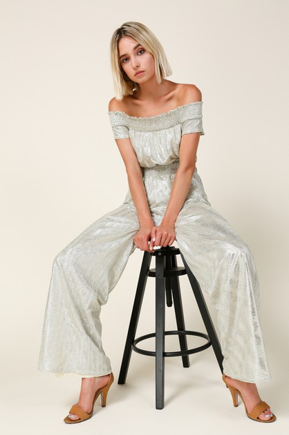 Liza Off Shoulder Jumpsuit - orangeshine.com