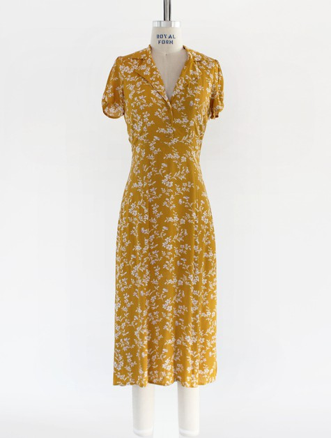 YD027F-DRESS-GAUZE-FLORAL-MIDI - orangeshine.com