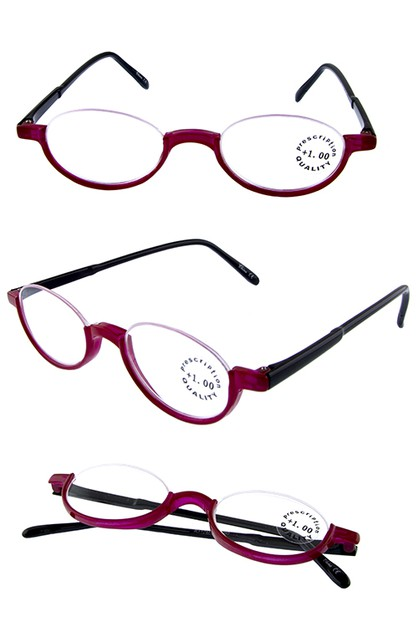 Rimless semi frame reading glasses - orangeshine.com