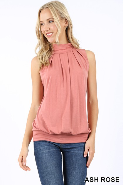 PREMIUM HIGH NECK PLEATED TOP - orangeshine.com