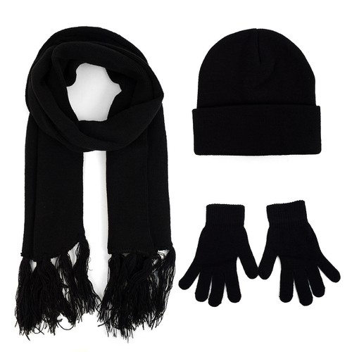 Unisex Adult Knit Hat Gloves Scarf  - orangeshine.com