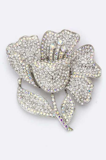 Crystal Flower Brooch - orangeshine.com