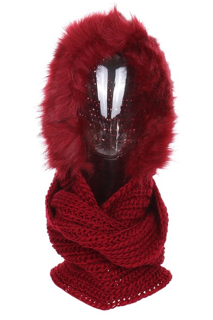 Soft Fur Hooded Scarves - orangeshine.com
