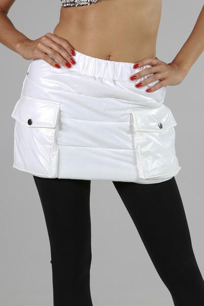 CINCHED PLAIN PADDING SKIRT - orangeshine.com