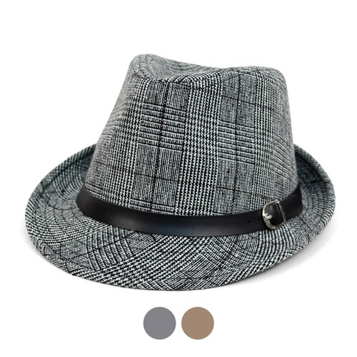 Fall-Winter Plaid Trilby Fedora Hat  - orangeshine.com